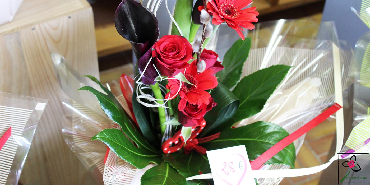 Pour la Saint Valentin, voici un exemple de bouquet haut