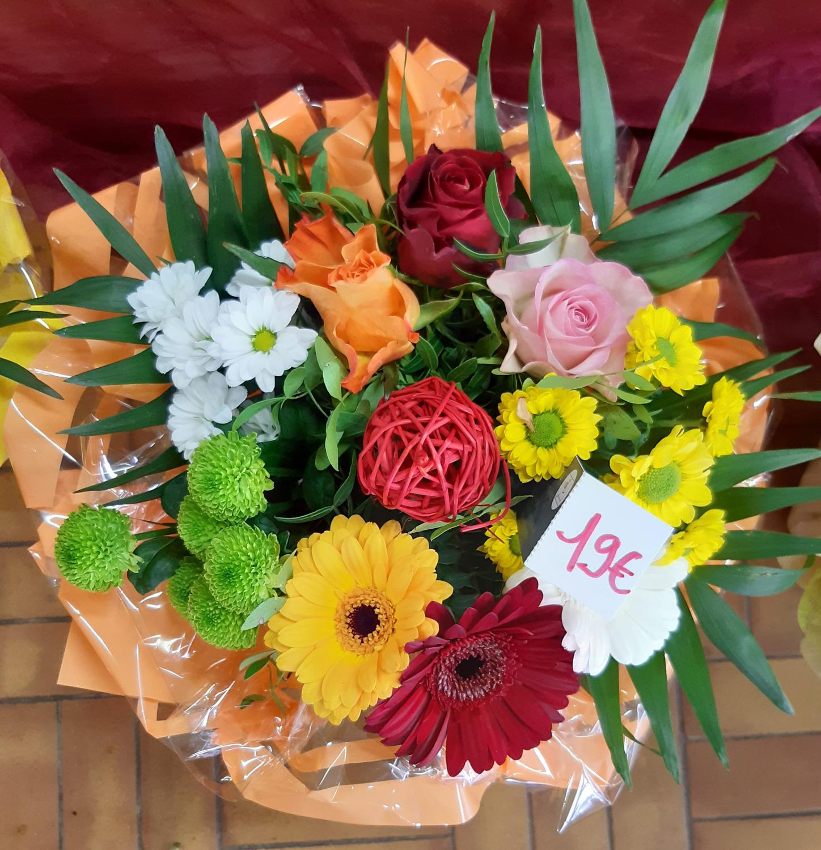 Bouquet dans les tons colorés