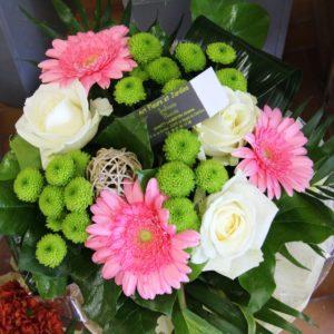 Bouquet varié aux tons pastels